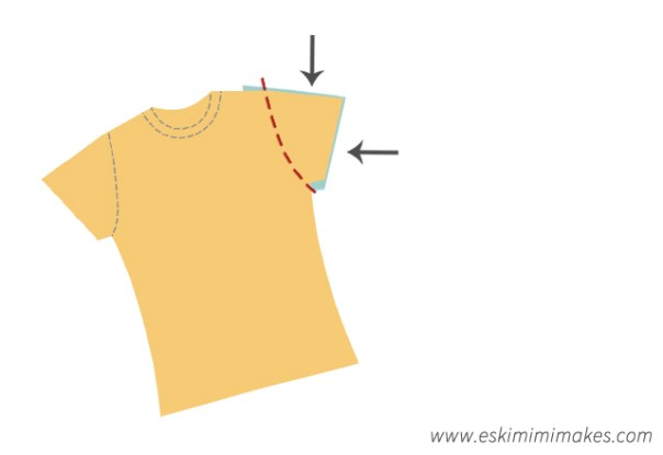 Sleeve adjustment for modified tee