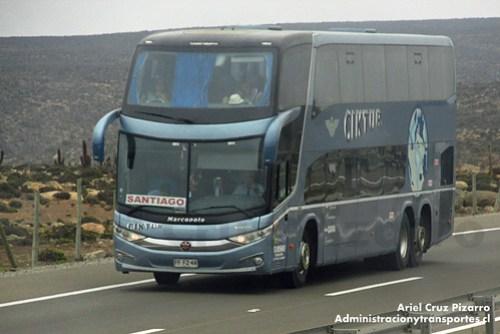 Ciktur - Marcopolo Paradiso 1800 DD G7 / Volvo (FFFZ49)