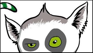 Lemur Peeking