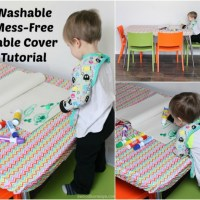 Washable, No-Mess, DIY Table Cover