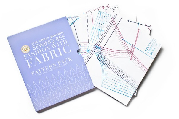 Great British Sewing bee Fashion With Fabric Sewing Pattern Sheets - contains five double-sided sheets in total to create 30 styles