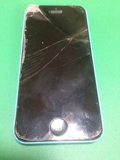 158_iPhone5Cのフロントパネル液晶割れ