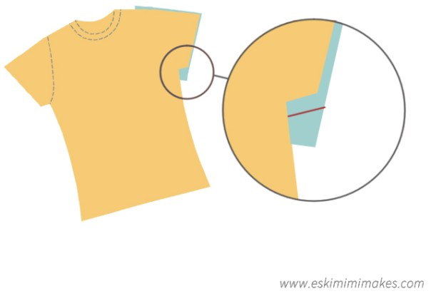 Sleeve adjustment for t-shirt modification