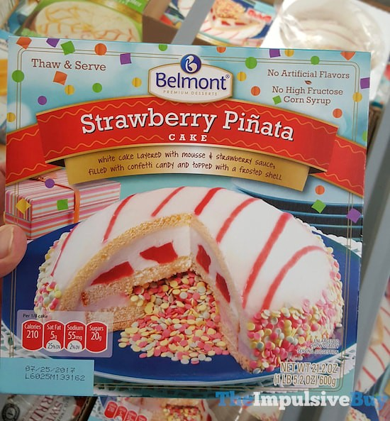 Belmont Strawberry Pinata Cake