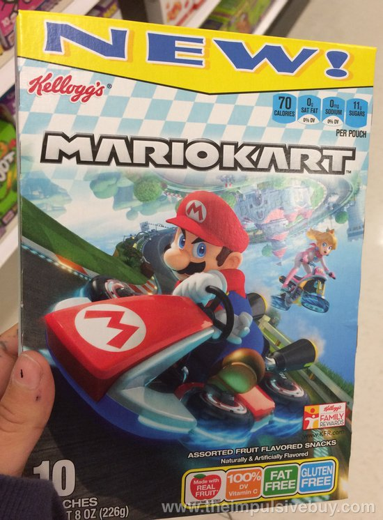 Kellogg's Mario Kart Fruit Flavored Snacks
