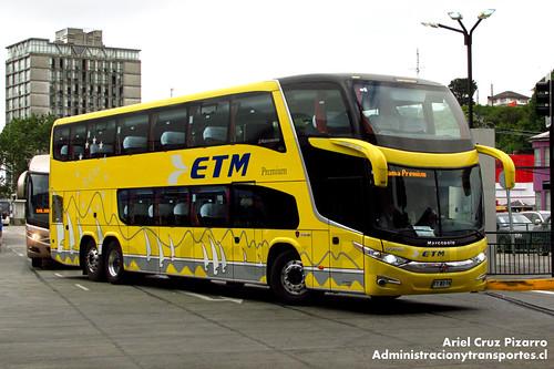 Buses ETM - Puerto Montt - Marcopolo Paradiso 1800 DD / Scania (FYWS74)