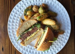 Crowbar burger bird's eye