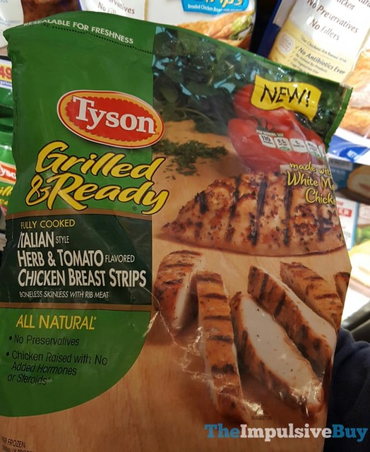 Tyson Grilled & Read Italian Style Herb & Tomato Chicken Breast Strips