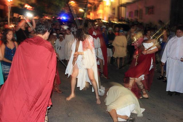 Vía Crucis de Loma San Jerónimo a cargo de los Estacioneros