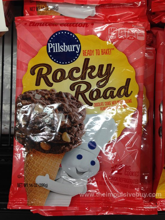 Pillsbury Limited Edition Rocky Road Ready To Bake Cookies