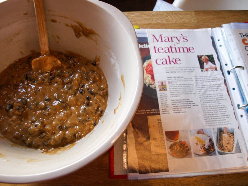 Mary's Tea Time Cake for Recipe Clippings