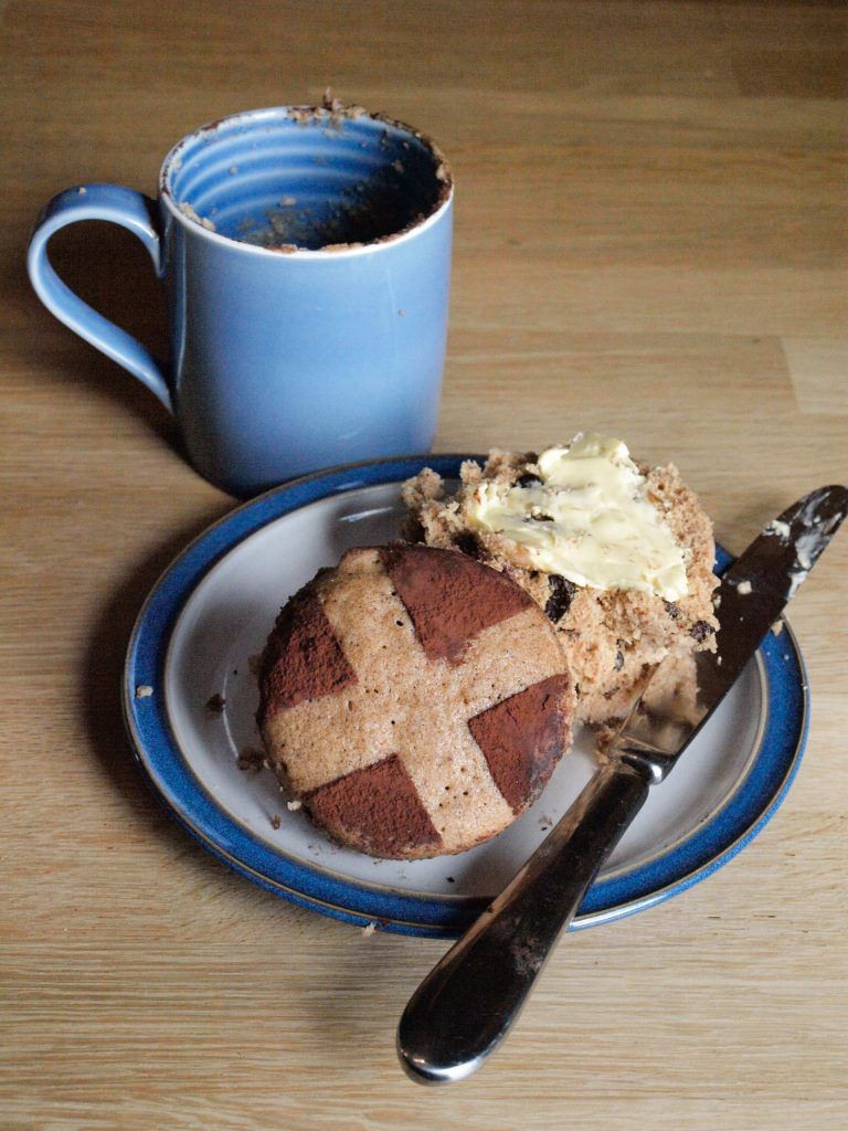 This Hot Cross Bun Mug Cake is really delicious with lots of butter just like the real thing.
