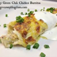 Creamy Green Chili Chicken Burritos