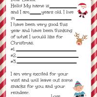 Free Dear Santa Letter Printable