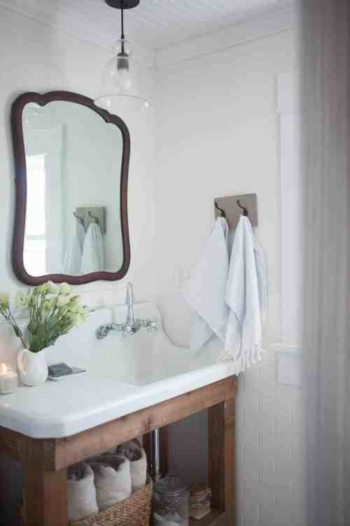 Medium Of Farmhouse Bathroom Decor