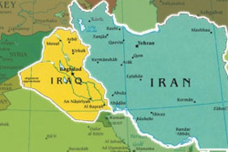 iran iraq map advertisement