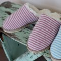 Celtic & Co striped mules