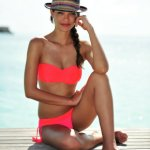 Neon swimwear: Seafolly red hot bikini