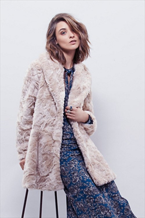 Womens Faux Fur Bliss Coat (Free People)