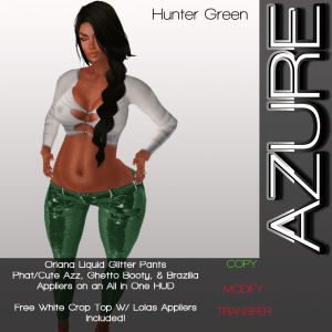 ORIANA HUNTER GREEN AD