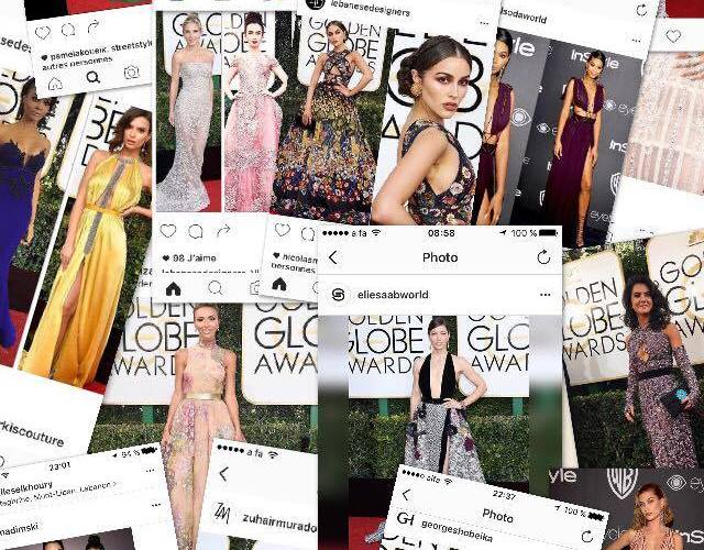 14 Lebanese Designers & 22 Celebrities at the Golden Globes 2017