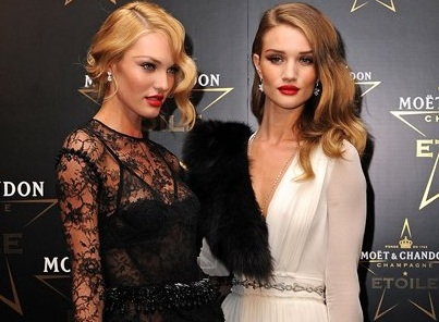 Candice Swanepoel & Rosie Huntington Whiteley Honoring Mario Testino