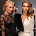 Candice Swanepoel & Rosie Huntington Whiteley Honoring Mario Testino