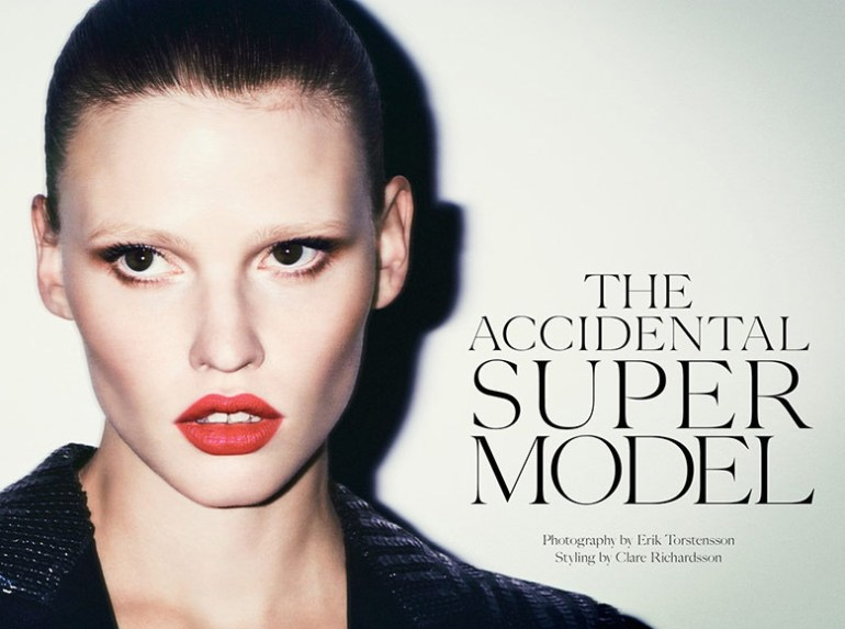 Lara Stone by Erik Torsensson for Industrie #7