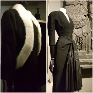 Balenciaga @ Musée Bourdelle : manteau hiver 1957 et redingote 1949