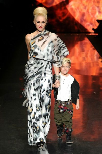 GWEN STEFANI and KINGSTON ROSSDALE at LAMB f2011 show photo FRAZER HARRISON | GETTY IMAGES for Mercedes-Benz on fashiondailymag