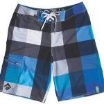 RUSTY-goombah-eco-stretch-blue-checked-board-shorts-in-FashionDailyMag-mens-swim-guide-2011-by-brigitte-segura