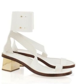 CHLOE mirrored heel white sandals NAP on www.fashiondailymag.com brigitte segura
