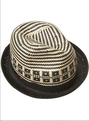 TOPMAN 2 straw hat on FashionDailyMag