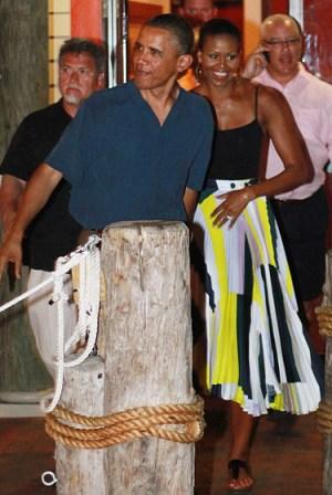 michelle obama wears suno skirt on FashionDailyMag photo associated press