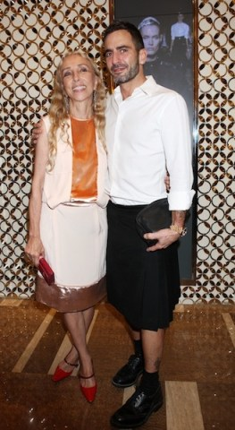 Franca Sozzani and Marc Jacobs Louis Vuitton flagship store opening MILAN on FashionDailyMag