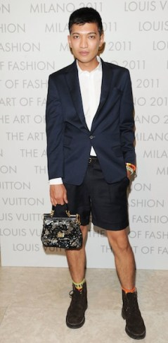 "fashion daily mag loves Blogger Bryan Boy Louis Vuitton ""The Art Of Fashion"" exhibition opening"