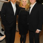 Cornelia Guest with James Mischka + Mark Badgley at WEITZMAN on FashionDailyMag