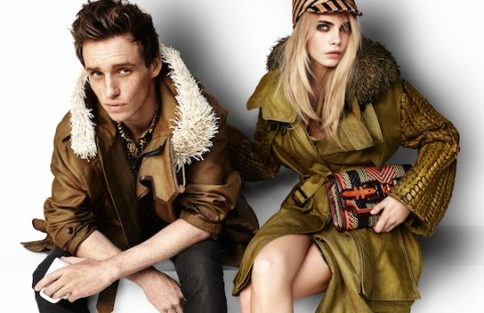 Burberry Spring Summer 2012 Ad Campaign featuring Eddie Redmayne and Cara Delevingne ph 2 FashionDailyMag