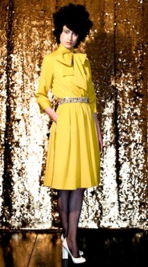 CHRIS BENZ AW 2012 yellow NYFW FashionDailyMag sel 7 brigitte segura