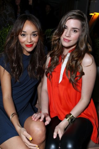 Ashley Madekwe (Revenge), actress Christa B. Allen (Revenge) at LACOSTE PARTY
