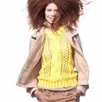 LOVE the hair and yellow benetton for spring 2012 FashionDailyMag