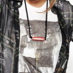 Lamia Benalycherif  PARIS recycled mecano chain necklace at ICUinPARIS in FASHIONDAILYMAG trend on earth day