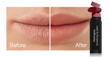 neutrogena revitalizing lip balm before and after lips FashionDailyMag