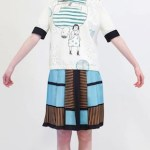 MARNI fall 20123-13 casual foulard geo pattern skirt blue FashionDailyMag