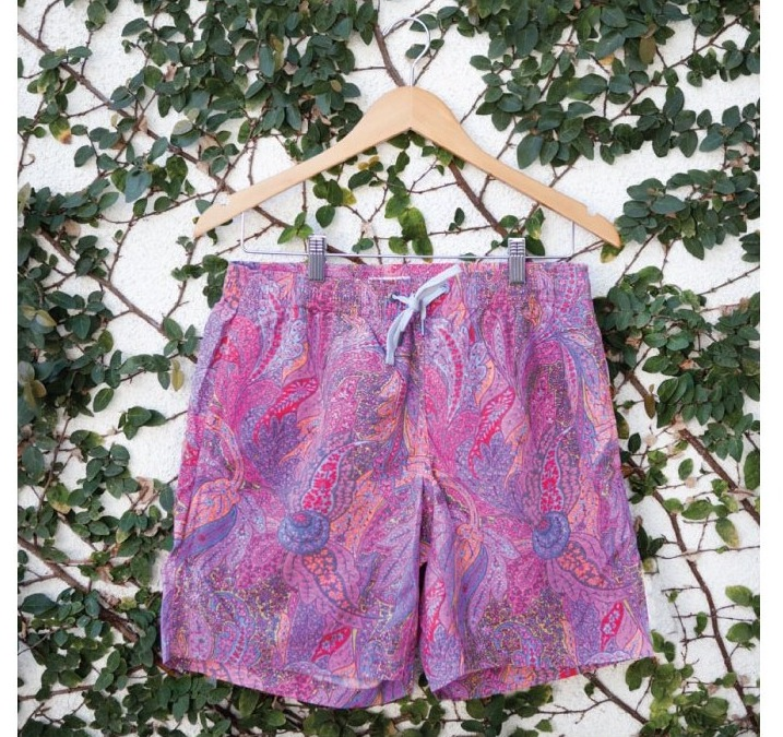 ONIA summer 2012 liberty print swim trunks rock and roll purple