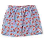 PINK HOUSE MUSTIQUE fish pattern mens swim trunks