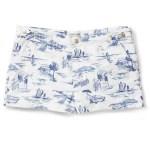 ROBINSON LES BAINS jouy print swim trunks