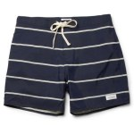 SATURDAYS SURF NYC striped mens swim trunks