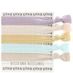 KITSCH PASTEL HAIR TIES on FashionDailyMag