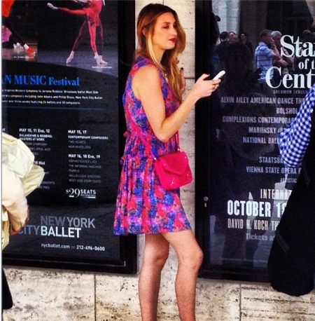 WHITNEY PORT AT NYFW ss13 lincoln center